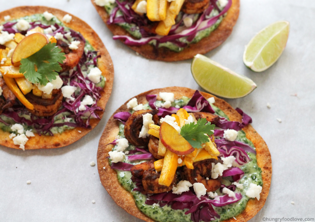 Colorful Shrimp Tostadas