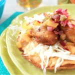 Fish Tostadas with Pickled Peach Salsa   |   @hungryfoodlove