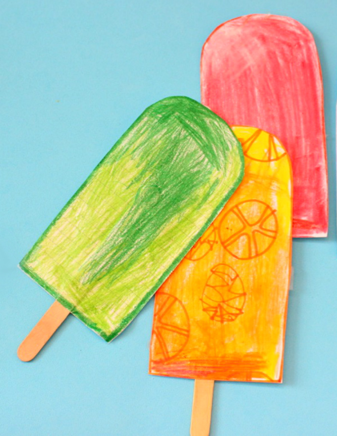 DIY Paper Popsicles for Kids
