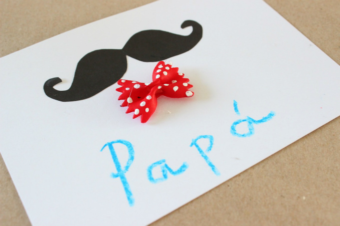 DIY Father's Day Cards with Bow Tie Pasta