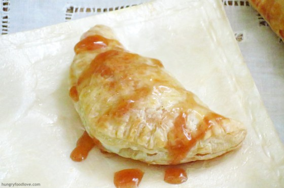 Sweet Cheese Empanada with Guava Cardamom Sauce