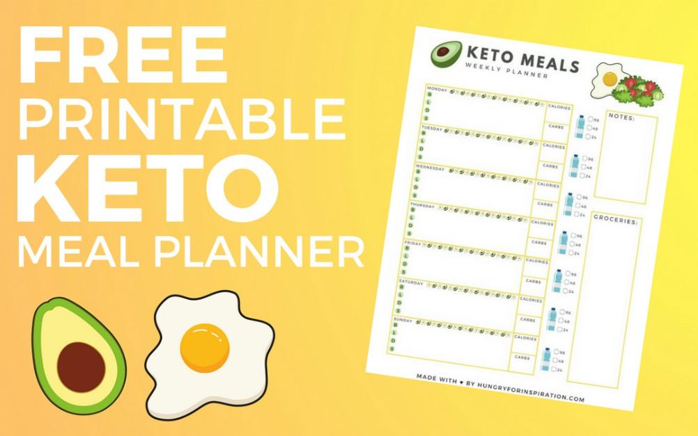 Free Printable Keto Meal Planner