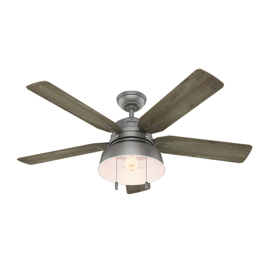 Vintage Looking Fan Ceiling Fan Mill Valley With Light 52 Inch