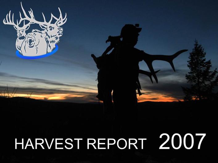 Montana hunting season harvest