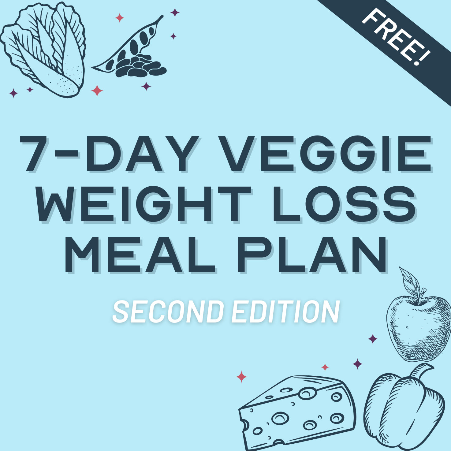7-Day Vegetarian Weight Loss Meal Plan 1500 kcal/day - Free Download