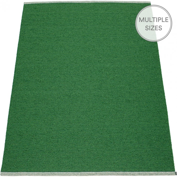 Pappelina Teppich Pappelina Mono Large Rug | Grass Green | Hus & Hem
