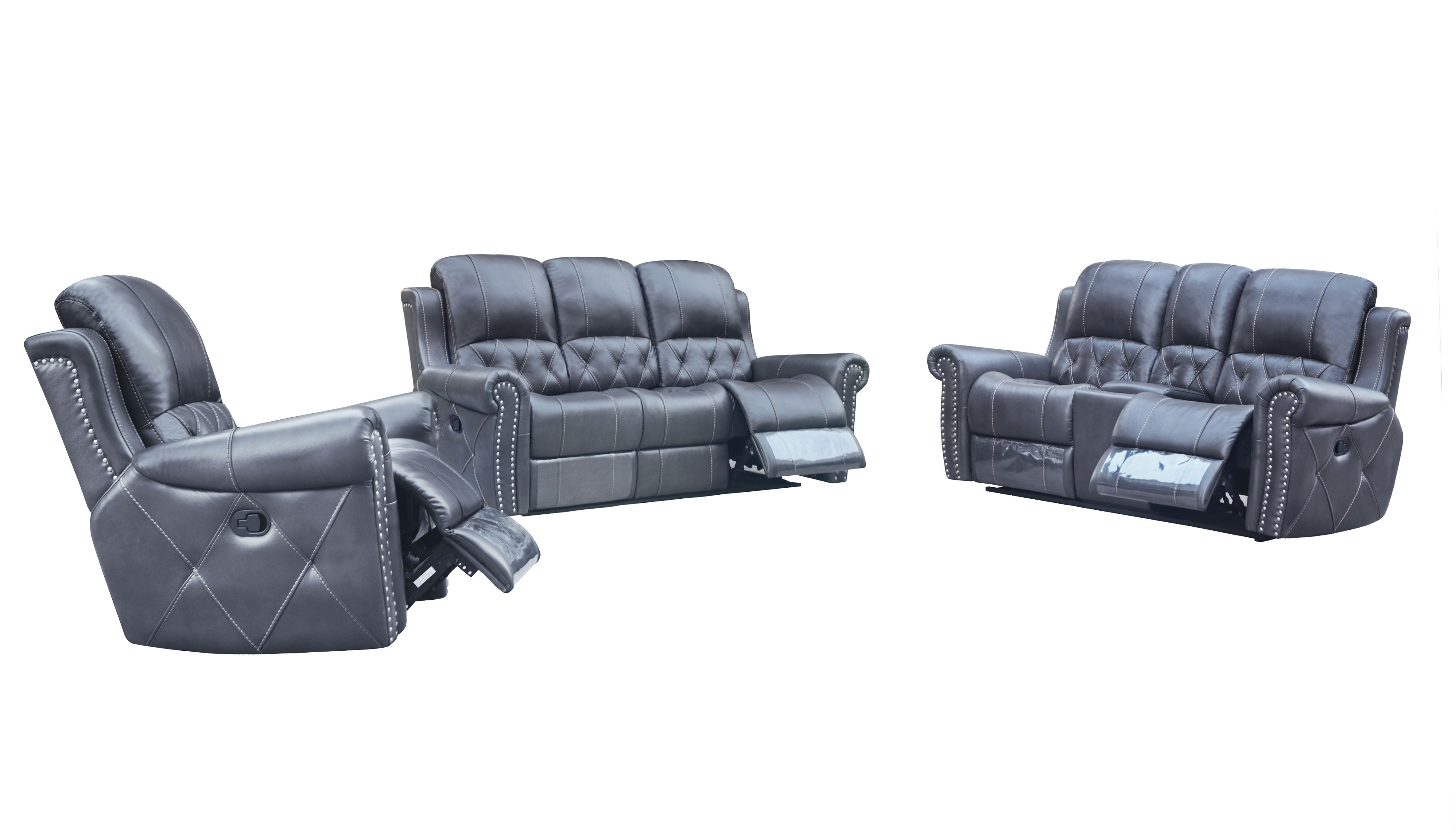 Sofa Set Grau Hunter Reclining 3 Pc Sofa Set Leather Air Code G12