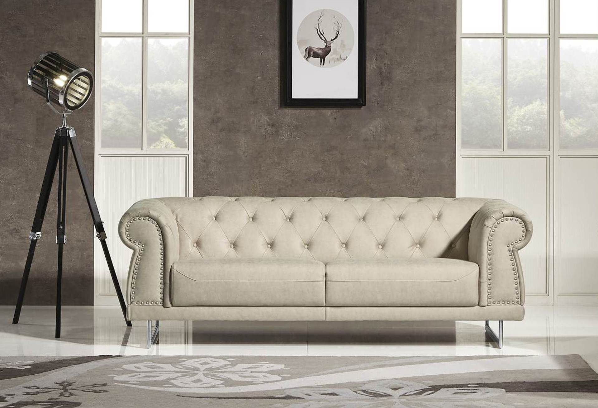 Designer Couch Mason Designer Sofa Leather Air Code G01 Beige Husky Furniture And Mattresses