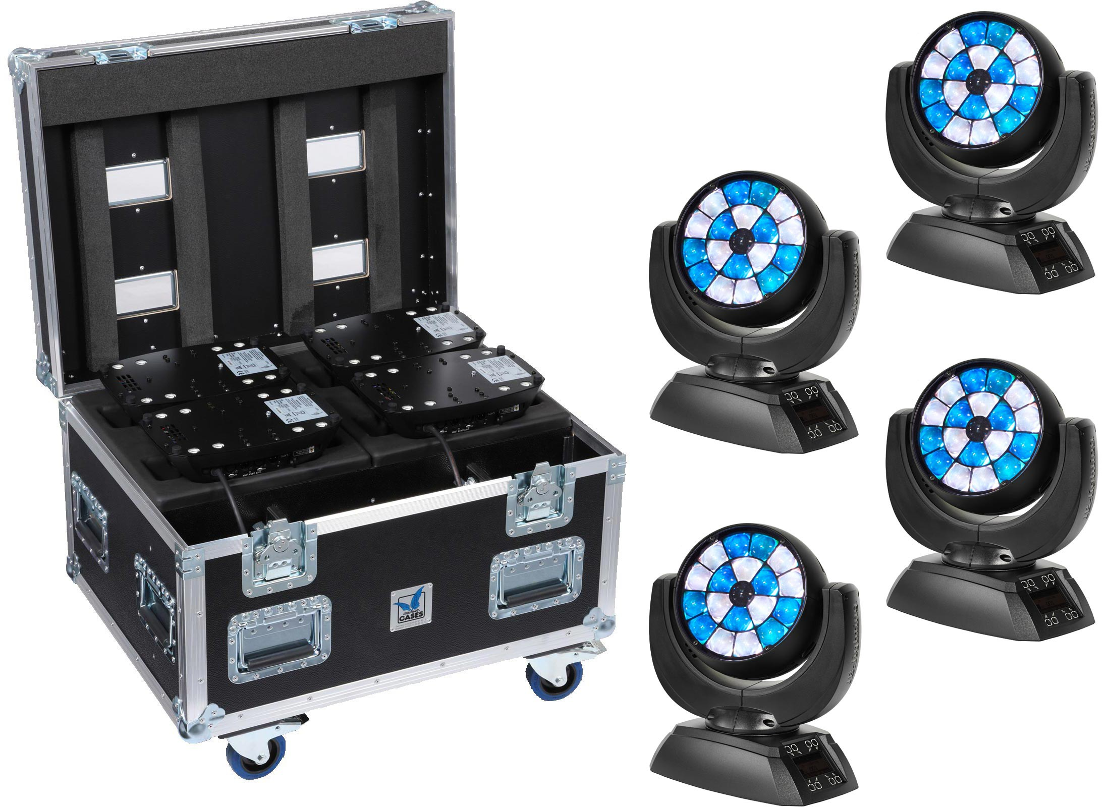 Jb Lighting Moving Head Jb Lighting Sparx 7 Led Moving Head Wash 4 Set At Huss Light Sound