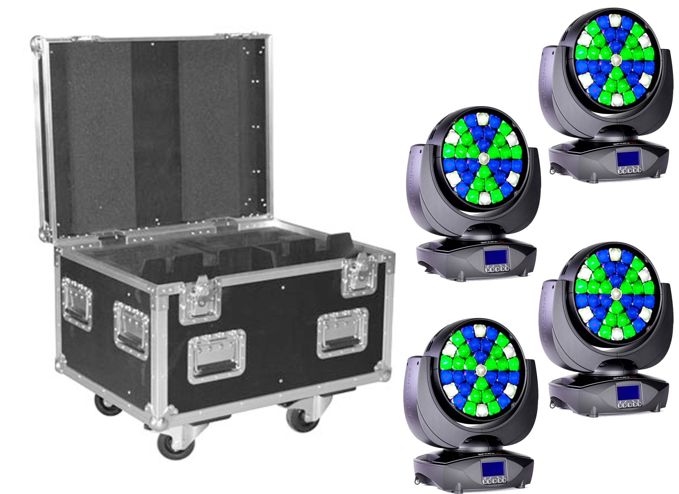 Jb Lighting Sparx 18 Jb Lighting Sparx 10 Led Moving Head Wash 4 Set At Huss Light Sound