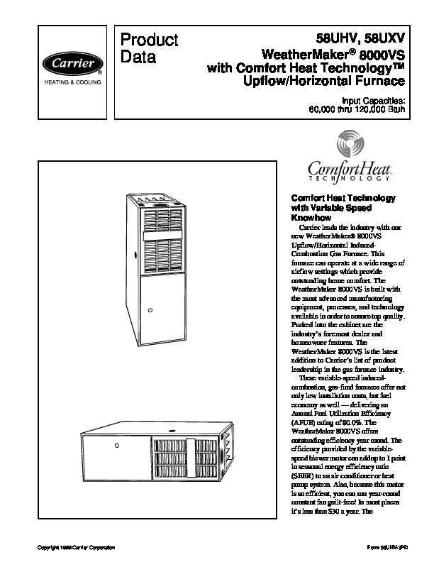 carrier furnace instructions