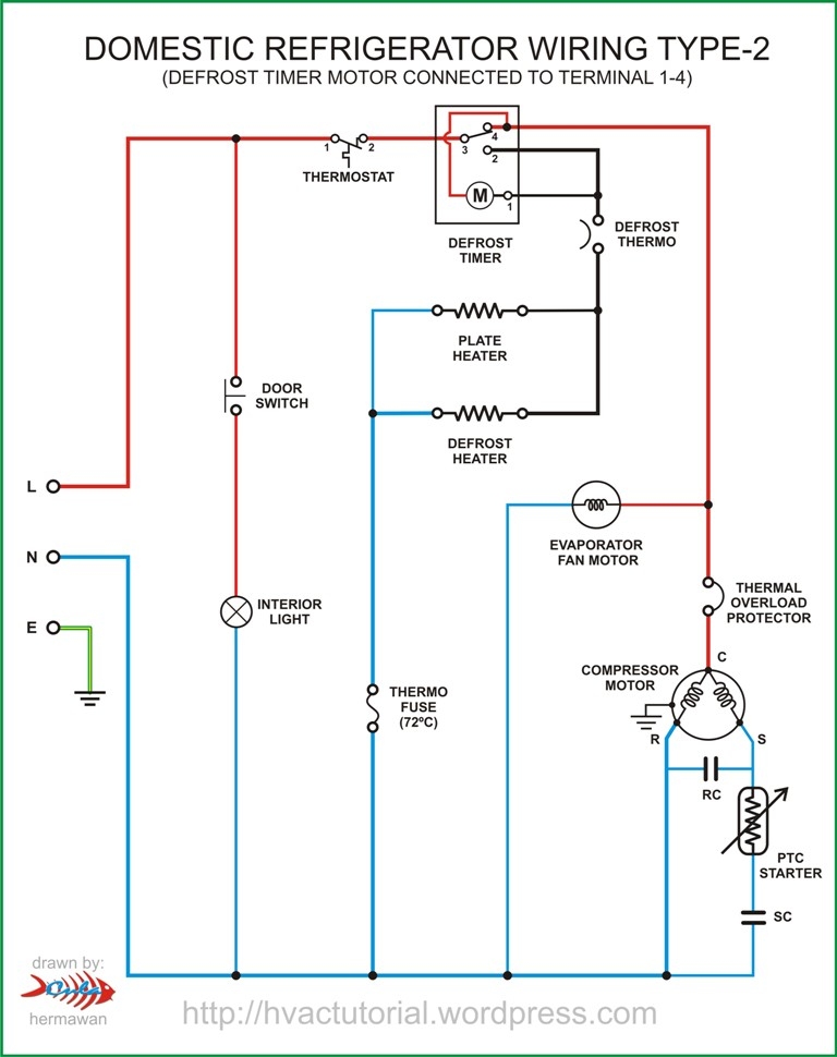 single door refrigerator wiring diagram