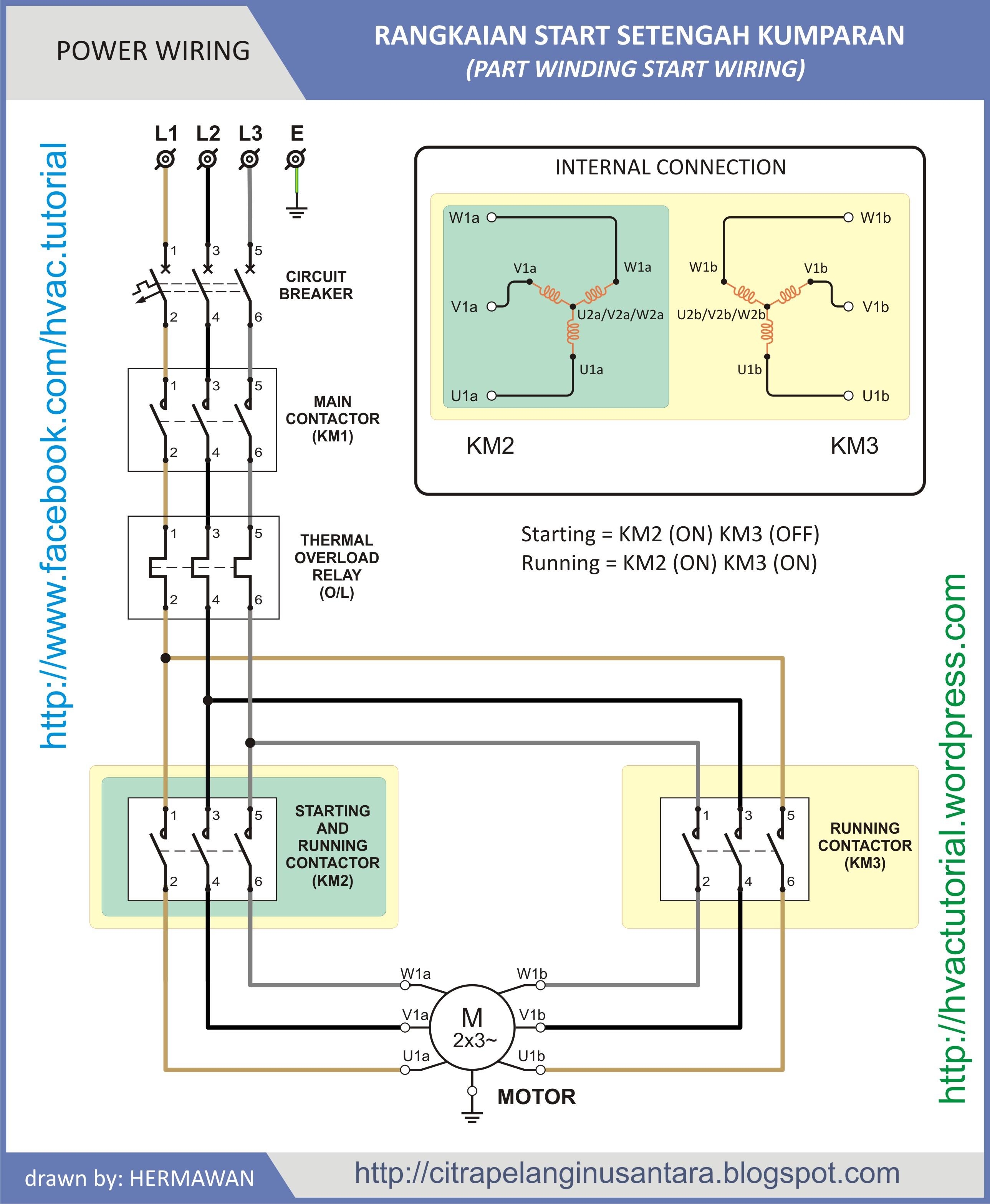 bitzer part winding motor connection diagram