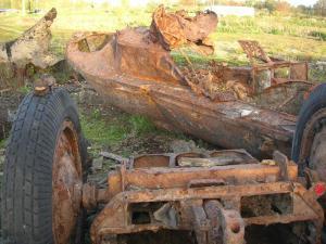 Le fond de ce caisson d'artillerie d'origine russe est relativement bien conservé.