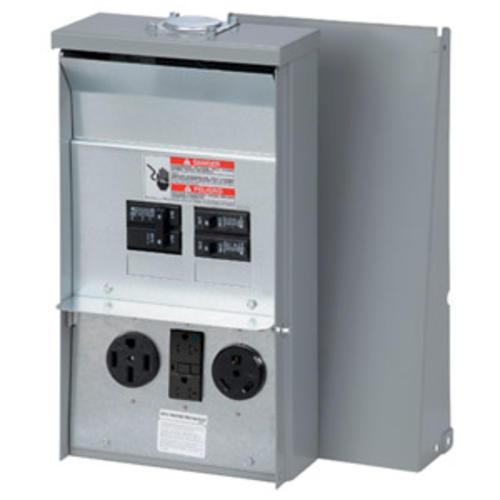 Eaton 50-Amp/30-Amp/20-Amp 120/240 VAC Outdoor RV Panel at Menards®