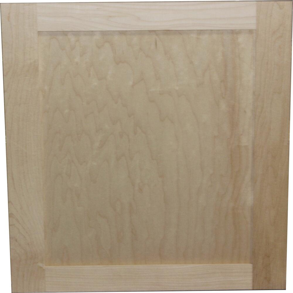 Quality One Unfinished Maple Square Recessed Panel Kitchen Cabinet Door At Menards