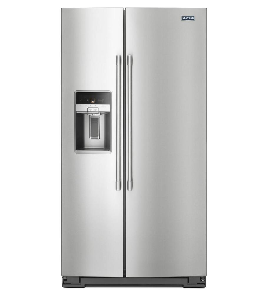 Maytag 20 6 Cu Ft Side By Side Counter Depth Refrigerator At Menards