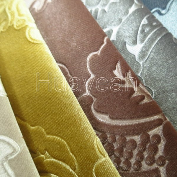 Sofa Fabric Name Embossed Luxury Velvet Upholstery Fabric For Sale