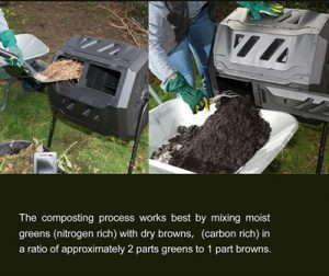 rotary garden tumbler composter