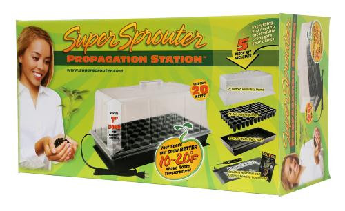 Super Sprouter Propagation Station With Heat Mat And 7