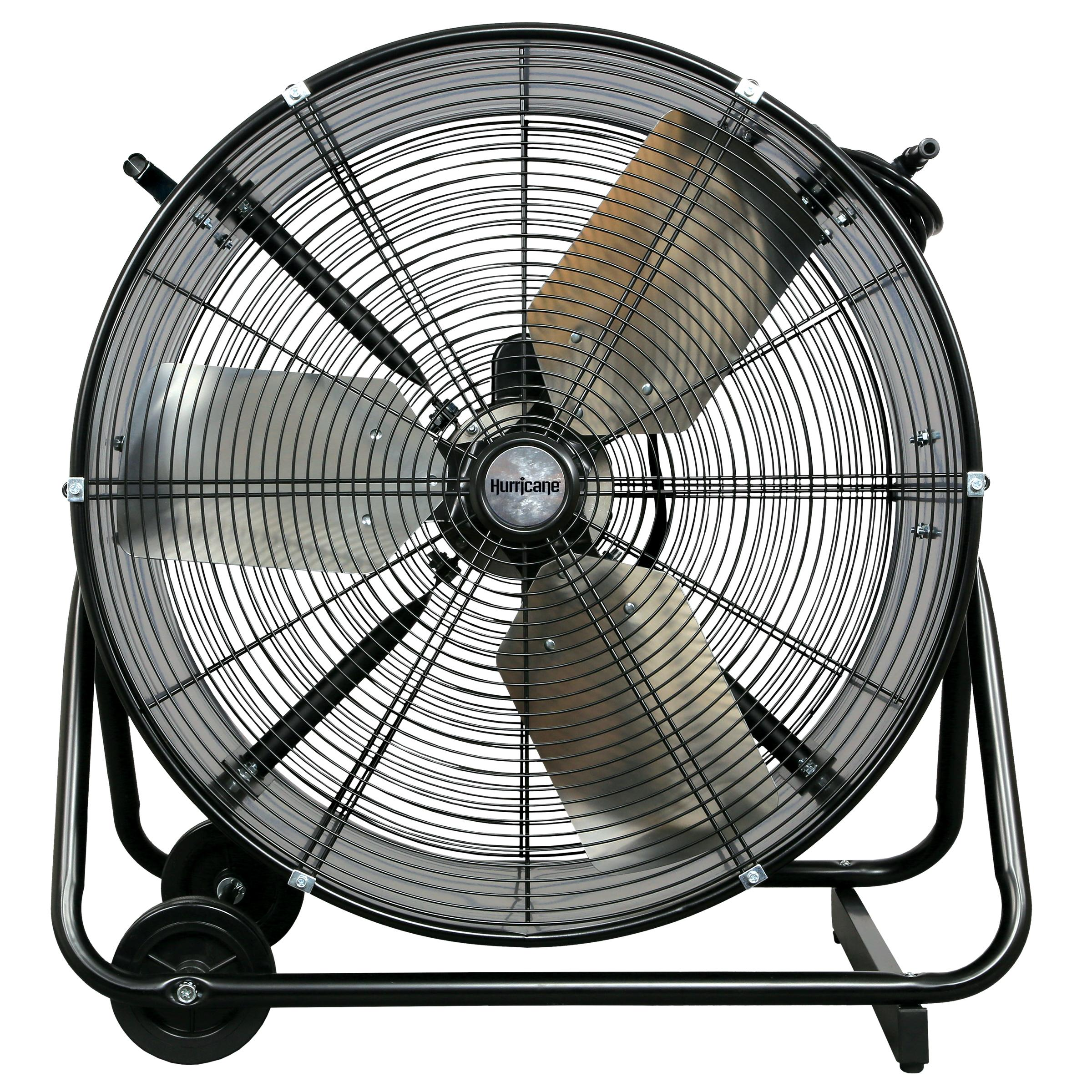 Garage Workshop Fan Hurricane Pro Heavy Duty Adjustable Tilt Drum Fan 24 In