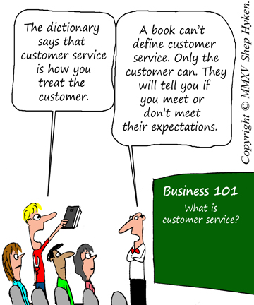 The Definition of Customer Service by Shep Hyken - Shep Hyken