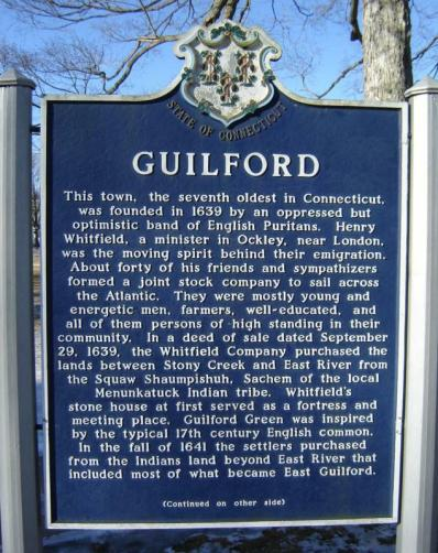 Guilford, Connecticut historical marker