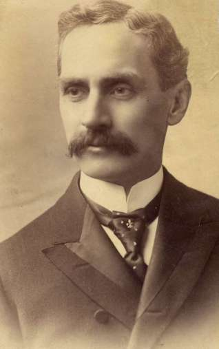 Sen. Clarence Don Clark, circa 1893 - photo from a family album of Elizabeth Hamlin Hylbom (1901-1982)