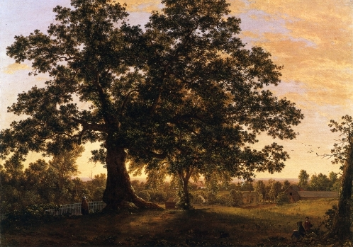 """The Charter Oak at Hartford"" painting by Frederic Edwin Church (1846), Florence Griswold Museum"