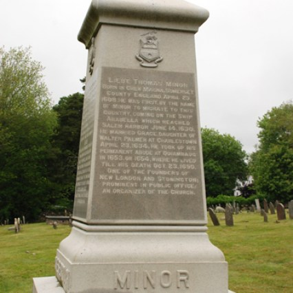 Thomas Miner Monument, Stonington, Connecticut (photo credit: Brother Xavier Werneth)