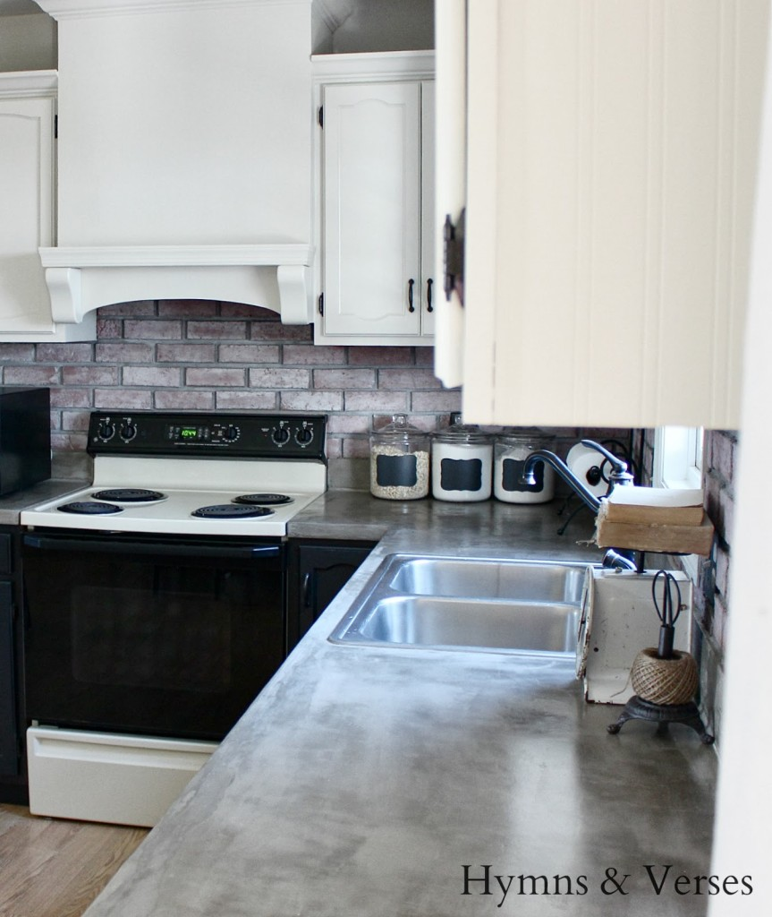 diy concrete countertops over existing formica kitchen countertops
