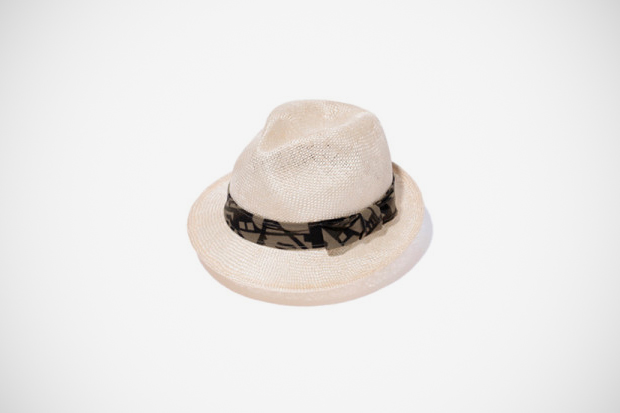 Image of A Bathing Ape ABC DECO SHORT BRIM STRAW HAT