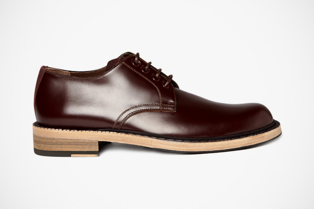 Image of Acne Bleeker Red Leather Derby Shoes