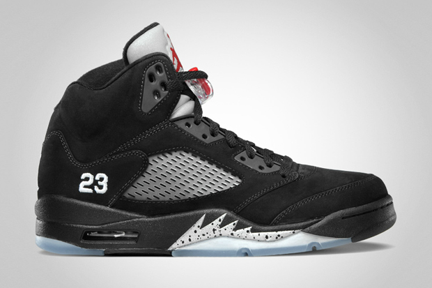 Image of Air Jordan 5 Retro Black/Varsity Red - Metallic Silver