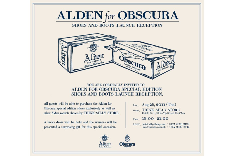 Image of Alden for Obscura Shoes and Boots Launch Reception