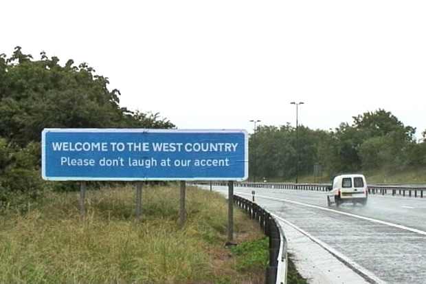 Image of Banksy West Country Road Sign