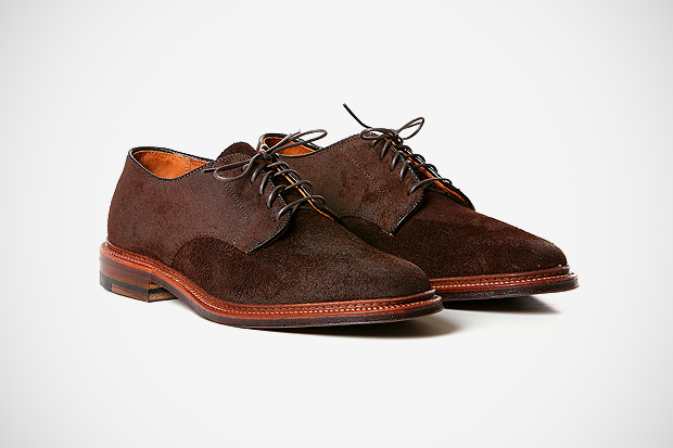 "Image of Blackbird x Alden Summer Oxford ""Reverse Tobacco Chamois"""