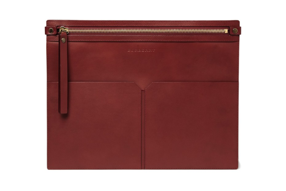 Image of Burberry Leather Document Holder 