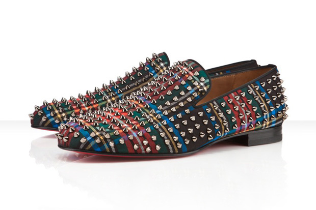 Image of Christian Louboutin &quot;Tartan&quot; Rollerboy Spikes