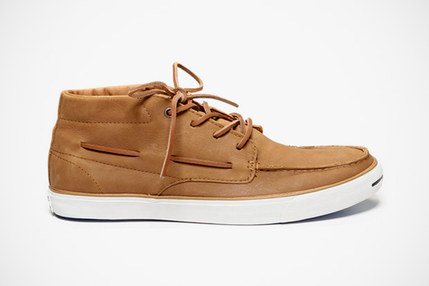Image of Converse Jack Purcell Mid-Top Leather Boat Shoe