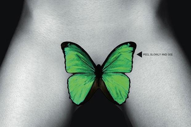 Image of Garage Magazine Cover by Damien Hirst featuring Shauna Taylor