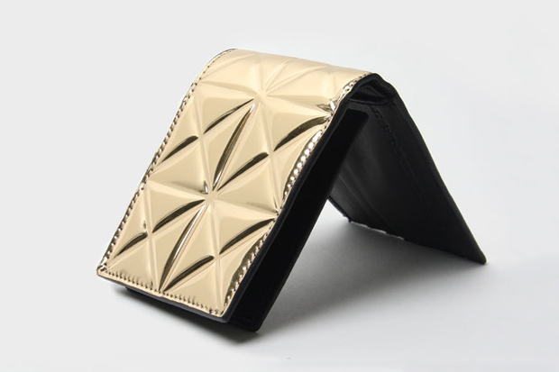 Image of Gareth Pugh Tessellated Gold Wallet