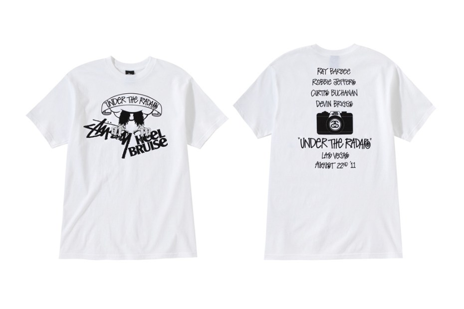 "Image of Heel Bruise x Stussy ""Under the Radar"" T-Shirts"