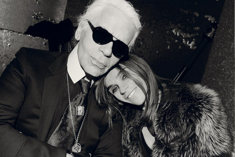 Image of Interview Magazine: Carine Roitfeld Interview with Karl Lagerfeld