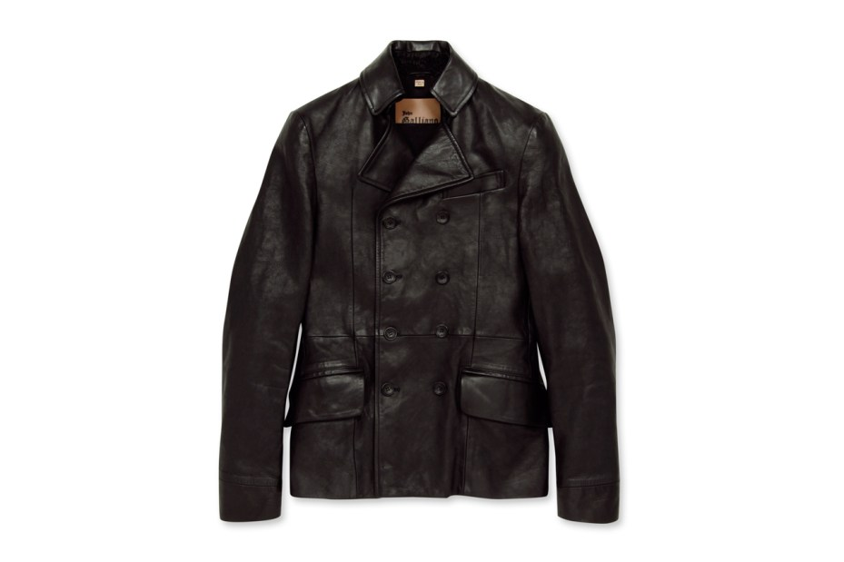 Image of John Galliano Homme Leather P-Coat