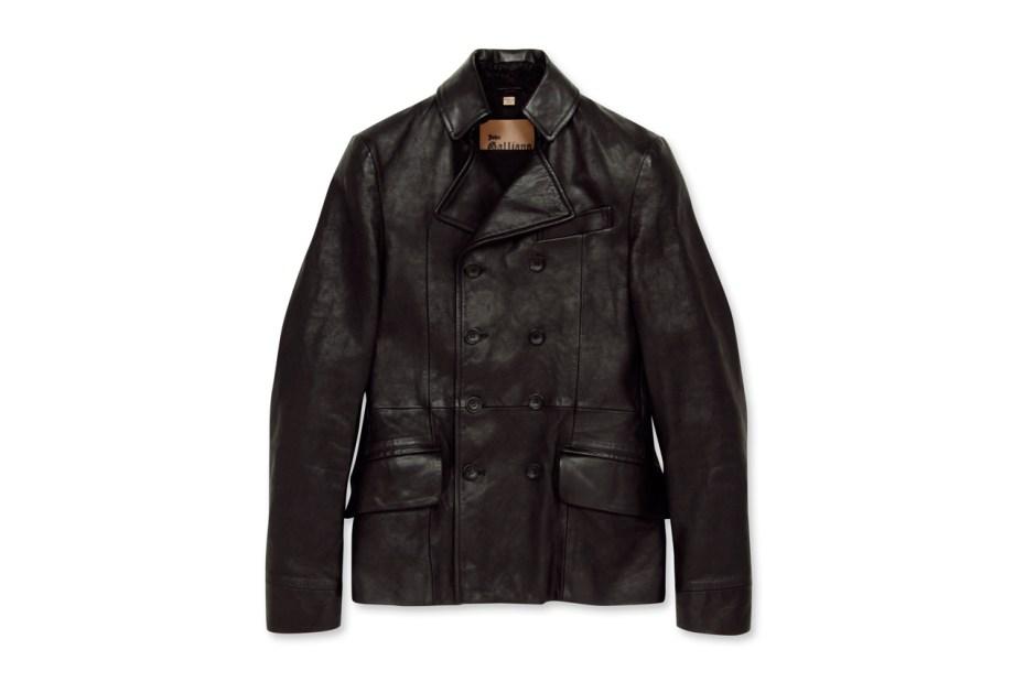 Image of John Galliano Homme Leather P-Coat
