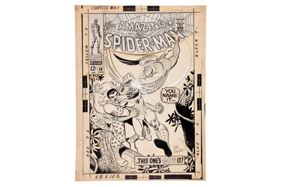 Image of John Romita Spider-Man #49 Cover Art Auction