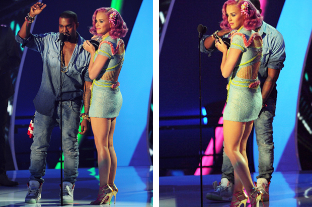 Image of Kanye West Wears Air Yeezy 2 @ 2011 MTV VMA