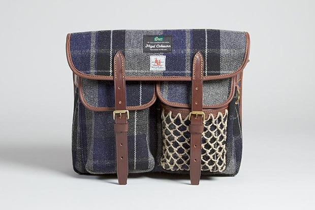 Image of Nigel Cabourn x Fox Brothers x Brady Fishing Bag