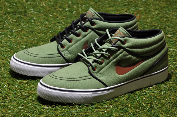 Image of Nike SB Stefan Janoski Mid Oil Green